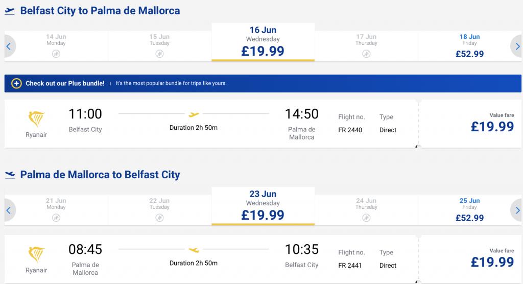 cheap flights to Mallorca