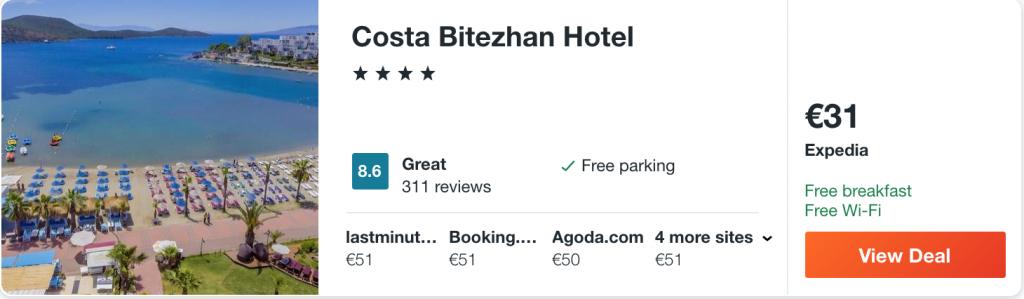 cheap hotel in Bodrum