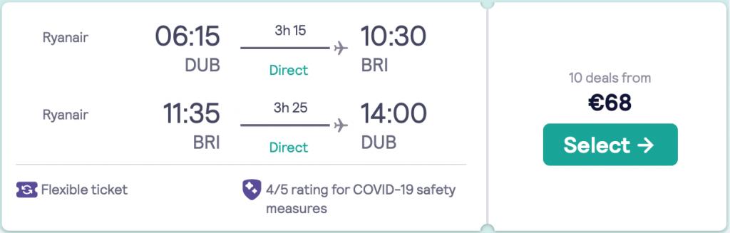 cheap flights to Bari