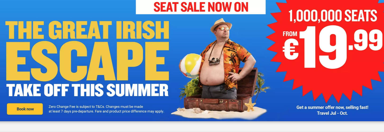 Ryanair sale from Ireland