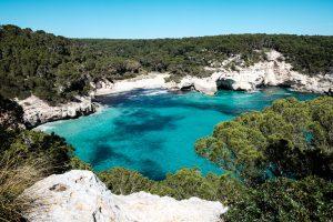 Menorca beach and cliffs