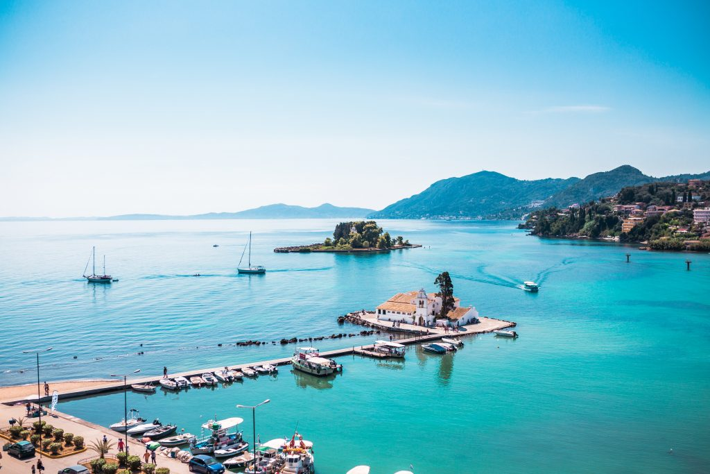 Greece Corfu harbour