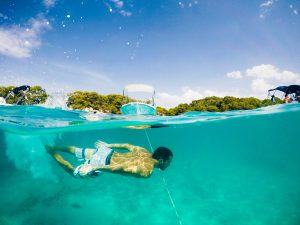 menorca boy underwater