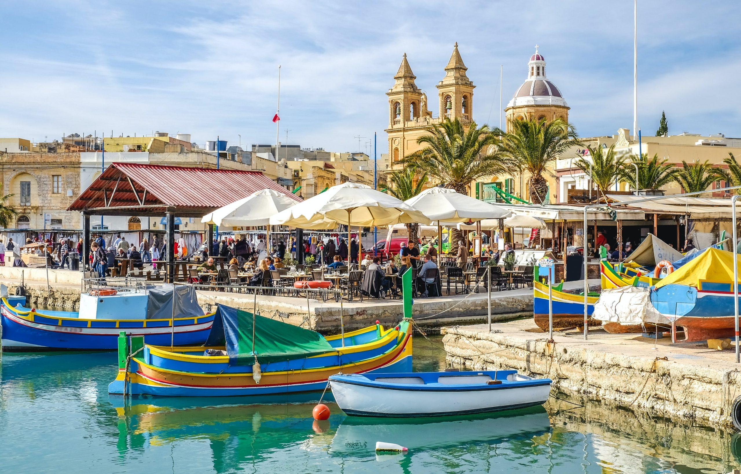 Malta Valetta boats