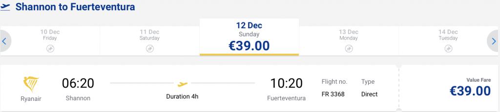 cheap flights to Fuerteventura